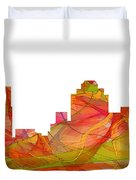 Virginia Beach  Virginia Skyline Duvet Cover