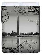 Washington Memorial In Washington Dc Duvet Cover