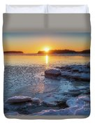 Winter By The Sea Duvet Cover