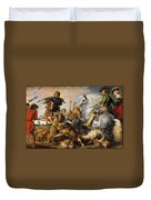 Wolf And Fox Hunt Duvet Cover