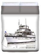 50 Foot Hatteras Motoryacht Duvet Cover