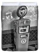 50's Gas Pump Bw Duvet Cover