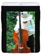 Female Cellist. Duvet Cover