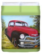 55 Chevy Truck Duvet Cover