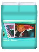 57 Chevy Man Duvet Cover