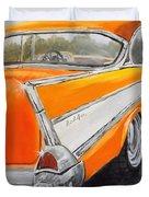 '57 Tangerine Duvet Cover