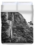 5782- Yellow Mountains Black And White Duvet Cover