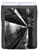 57th Street Platform Duvet Cover by Barry C Donovan