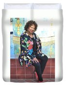 African American Female. Duvet Cover