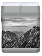 5818- Yellow Mountains Black And White Duvet Cover
