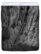 5840- Yellow Mountains Black And White Duvet Cover