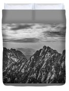 58462 Yellow Mountains Black And White Duvet Cover