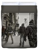 5th Avenue Walk Duvet Cover