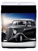 1934 Ford Five-window Coupe Duvet Cover