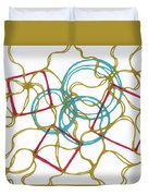 Abstract Pencil Pattern Duvet Cover