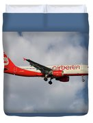 Air Berlin Airbus A320-214 Duvet Cover