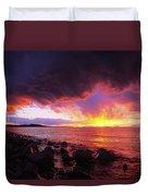 Antelope Island Sunset Duvet Cover