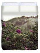 Rose Bush And Dunes Duvet Cover