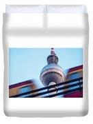 Berlin Tv Tower Duvet Cover