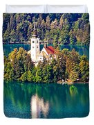 Church Of The Assumption - Lake Bled, Slovenia Duvet Cover