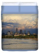 Cleveland Skyline From A Distant Park Duvet Cover