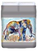 Colorful Cute Elephant Duvet Cover