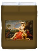 Diana And Cupid Duvet Cover