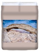 famous Mesa Arch in Canyonlands National Park Utah  USA Duvet Cover