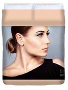 Fashion Woman Portrait Duvet Cover