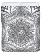 Fern Frost Mandala Duvet Cover
