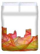 Fort Wayne Indiana Skyline Duvet Cover