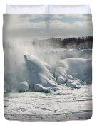 Frozen Niagara Falls Duvet Cover