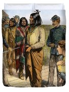 Geronimo 1829-1909.  To License For Professional Use Visit Granger.com Duvet Cover