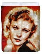 Ginger Rogers Hollywood Actress And Dancer Duvet Cover