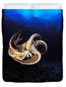 Hawaii, Day Octopus Duvet Cover