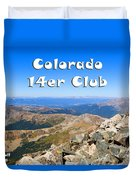 Hikers And Scenery On Mount Yale Colorado Duvet Cover