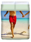 Lanikai Beach Duvet Cover
