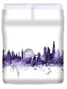 London England Skyline Duvet Cover