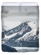 Mountain Range Scenes In June Around Juneau Alaska Duvet Cover
