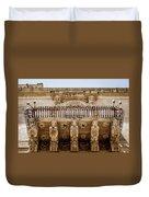 Noto, Sicily, Italy - Detail Of Baroque Balcony, 1750 Duvet Cover