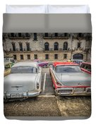 Old Car Duvet Cover