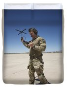 Pararescuemen Conducts A Communications Duvet Cover
