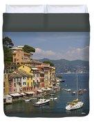 Portofino In The Italian Riviera In Liguria Italy Duvet Cover