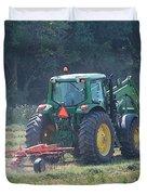 Raking Hay Duvet Cover