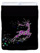 Reindeer Design By Snowflakes Duvet Cover