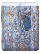Rouen Cathedral, West Facade Duvet Cover