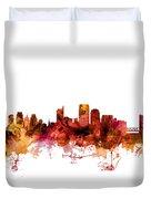 Sacramento California Skyline Duvet Cover