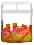 Scottsdale Arizona Skyline Duvet Cover