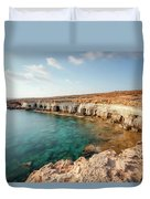 Sea Caves Ayia Napa - Cyprus Duvet Cover