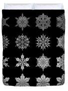 Snowflake Simulation Duvet Cover